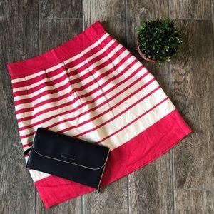 Banana Republic Linen A-Line Stripe Skirt
